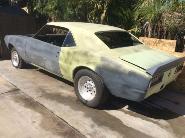 67 camaro project car hot rod chevy 396  big block not 68 69