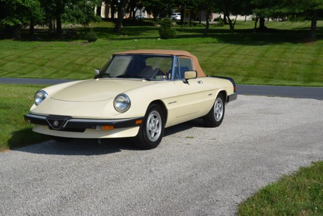 1987 Alfa Romeo Spider convertible