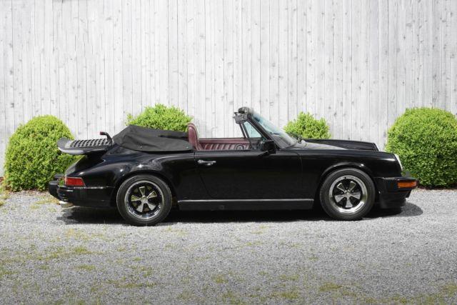1987 Porsche CARRERA 2  69645 Miles BLACK Convertible  Manual