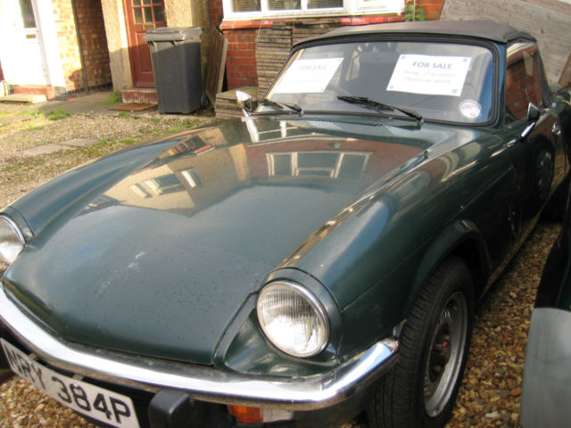 TRIUMPH SPITFIRE 1500 RUNNING PROJECT 1976