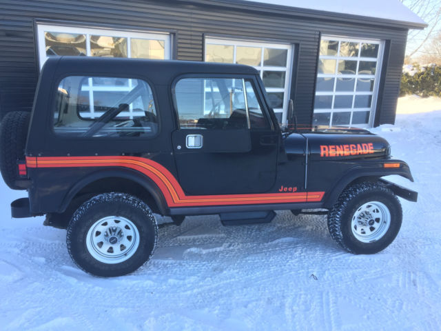 1986 Jeep CJ7 Renegade Sport Utility 2-Door 4.2L 4WD ONLY 24,655 MILES