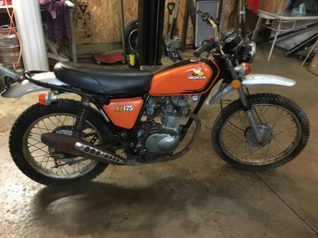 honda 1974 xl 175 project dual-sport motorcycle