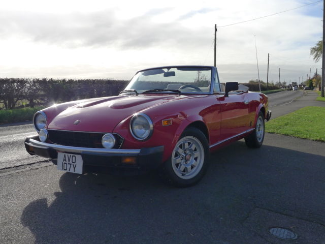 1982 FIAT 124 Spider. Featured on TV and in many magazines. Fully restored. Mint