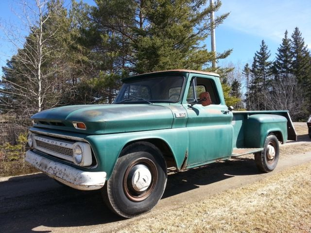1965 Chevrolet C30 RARE 9 Foot Stepside Longbox 6cyl 4spd Orig Paint Barn Find
