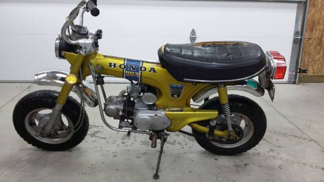 1972 Honda CT70 K1 Mini Trail 70 Candy Yellow 3 speed CT 70 CT70H CT 70 H