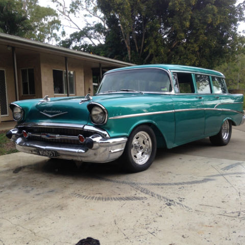 1957 Chevrolet Belair  wagon, new 350, turbo 700 O/Drive auto, RHD. NO RESERVE