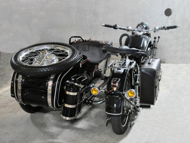 Original 1962 Chang Jiang CJ-750 Motorcycle & Sidecar not BMW R71 / R75 WW2 bike