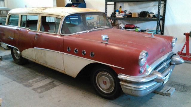 Rare Barn Find 1955 Buick Century Wagon Rad Rot, Surf Wagon