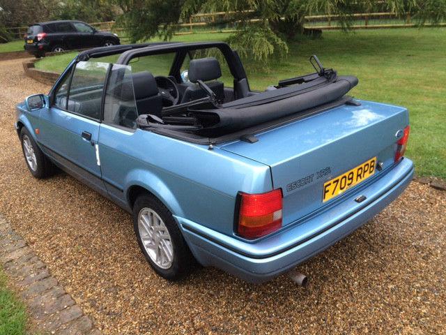 ford escort xr3i cabriolet limited edition one owner. Black Bedroom Furniture Sets. Home Design Ideas