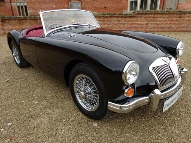 MGA ROADSTER 1600CC 1960 FINISHED IN BLACK COACHWORK WITH RED INTERIOR