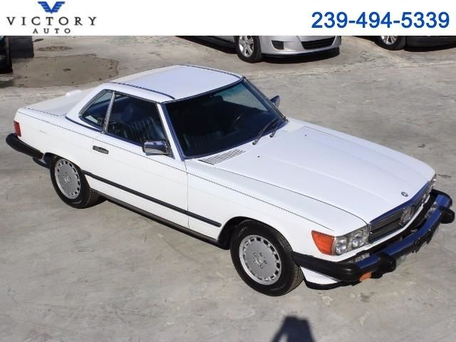 1988 Mercedes-Benz 560 SL coupe 98,849 Miles White  5.6L V8 SOHC 16V Automatic