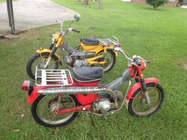 1969 Honda CT90 Motorcycles Early and Late Year models