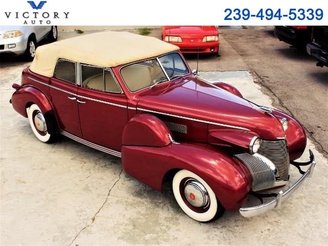1939 Cadillac Series 61 Convertible Sedan 40,883 Miles Red  V-8 3-Speed