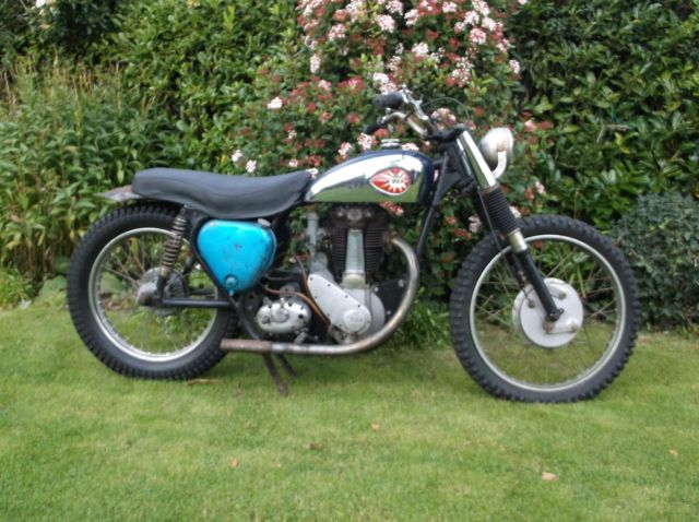 BSA B34 SCRAMBLER 500cc 1955 WITH B33 ENGINE RESTORATION PROJECT NOT GOLDSTAR