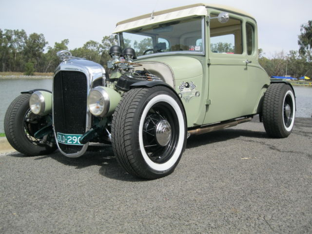 HOT ROD  1928 ford 5 window coupe  ALL STEEL