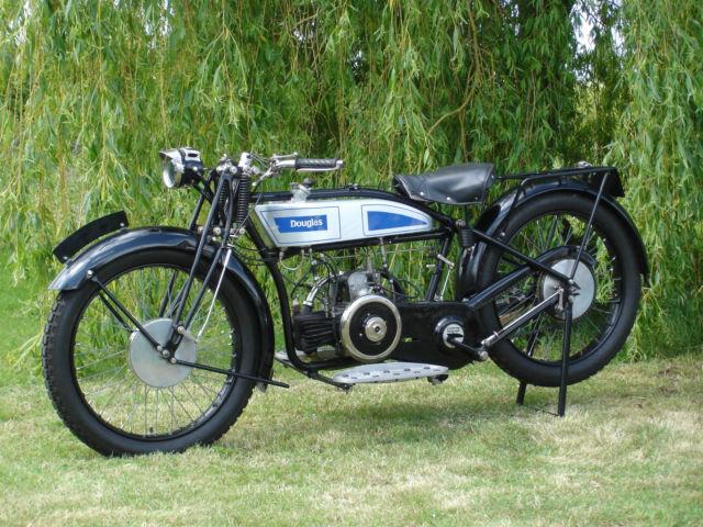 Vintage Douglas EW, 350cc Twin Classic Motorcycle