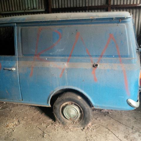 1981 BEDFORD 6 CWT HAE BLUE VAN