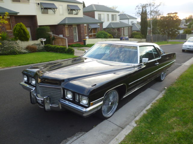 1972 Cadillac Coupe De Ville Black - Comes with 5 mths rego