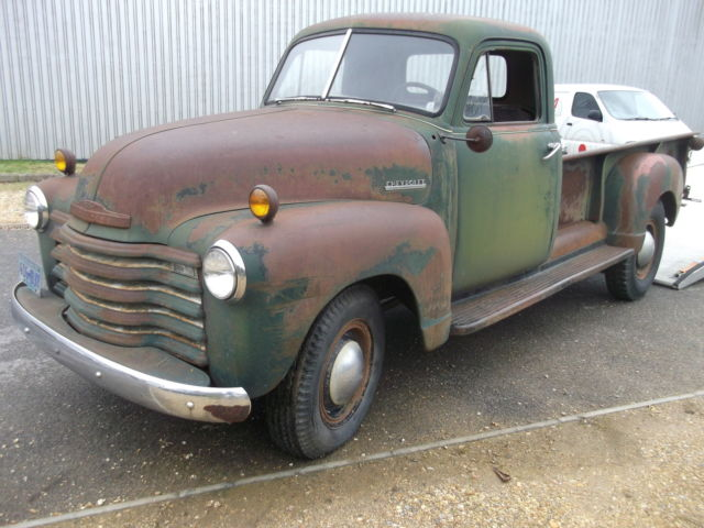 1951 CHEVROLET TRUCK, LONGBED, IDEAL HARLEY CARRIER, EASY RESTO OR V8 CONVERSION