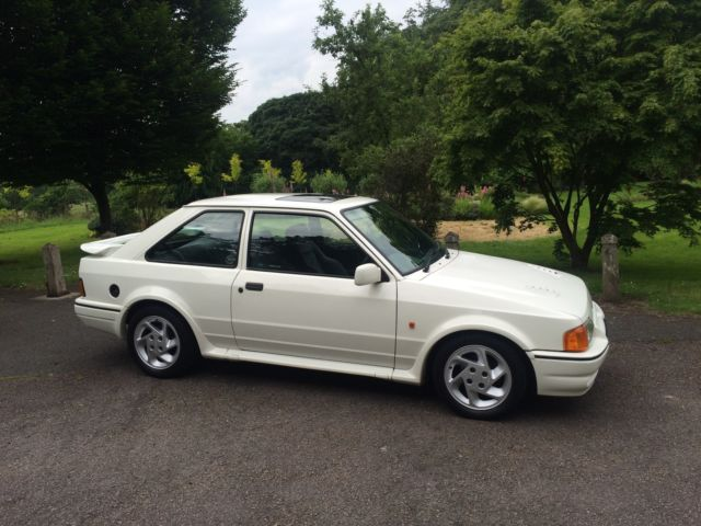 1990MY (G) FORD ESCORT XR3i RS TURBO OPTIONS, S2 SPEC, ONLY 4 PREVIOUS OWNERS