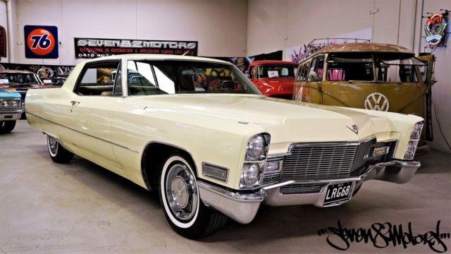 1968 Cadillac Coupe DeVille, suit Eldorado Chevy Impala, Galaxie V8 Lincoln