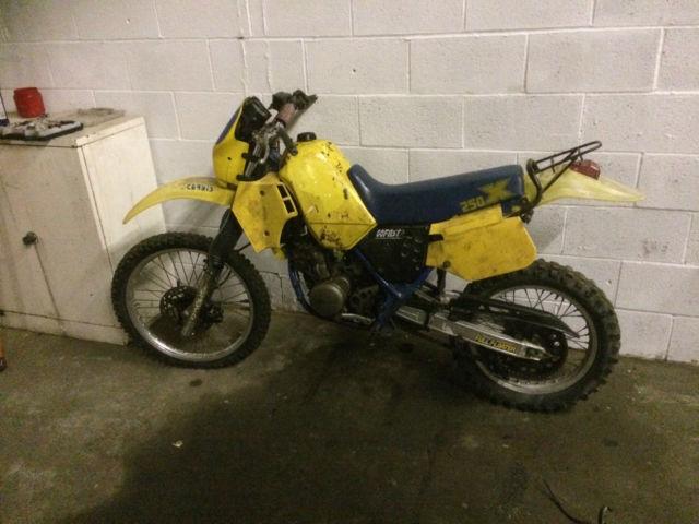 Suzuki TS 250X 1986.. <<BARN FIND>> Very Rare bike.