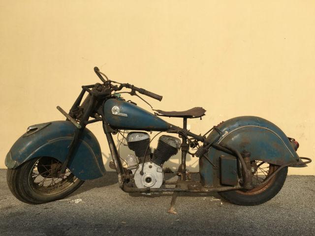 1946 Indian Chief Motorcycle VTG Rare original paint barnfind Chopper Bobber