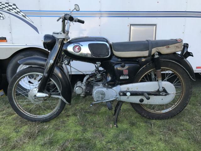 1965 Honda S65 Sport Super Cub Vintage motorcycle moped Cafe top tank CB AHRMA