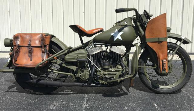 Original 1942 Harley Davidson WLA Flathead 45 Army Knucklehead Panhead