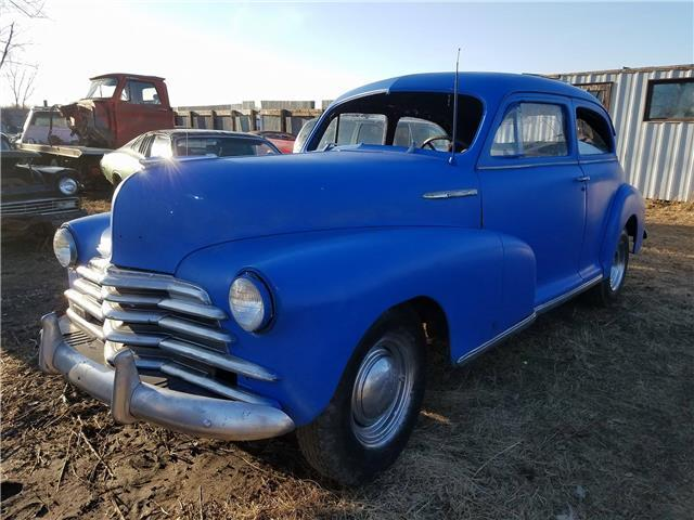 1947 Chevy Stylemaster  Blue  6 cylinder Manual