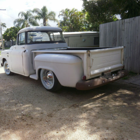 1955 gmc shorted big back window step side rat rod pick up for 1955 gmc 5 window pickup for sale
