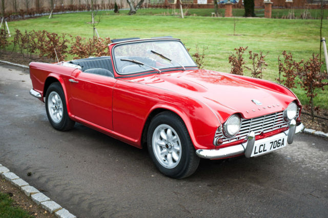 1963 Triumph TR4 - Signal Red with Black interior - Original UK RHD - Over Drive