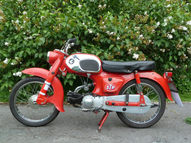** Honda C200 Rare Classic Motorcycle from 1965 - 90cc - Lovely 'Racing' Red! **