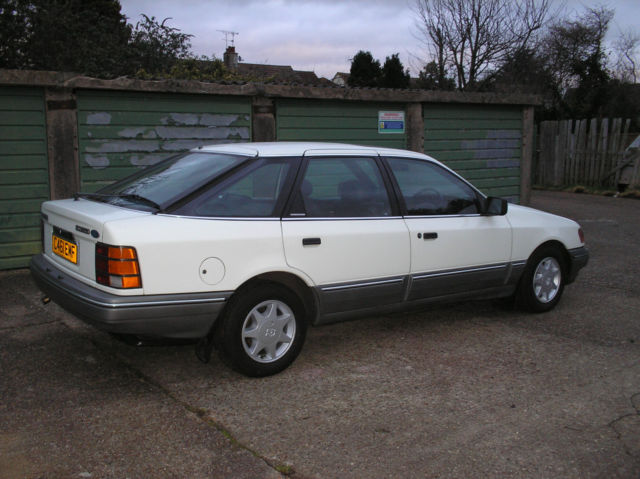 1985 FORD GRANADA SCORPIO I AUTO WHITE showroom condition inside and out