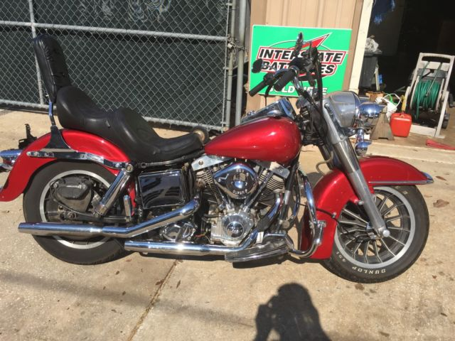 1981 Harley FLH S and S Crate motor 6 speed trans Red Paint Florida Title