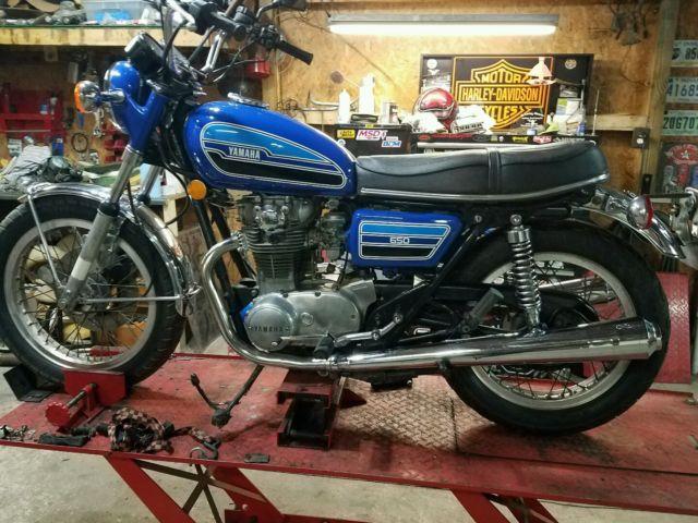 1976 yamaha xs650 vintage classic 2 owner bike