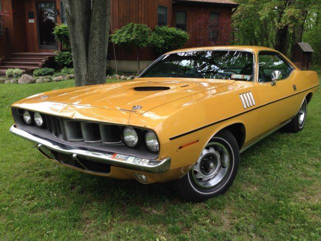1971 Plymouth 'Cuda 340 Original Survivor EL5 Bahama Yellow CA car 49,000 miles
