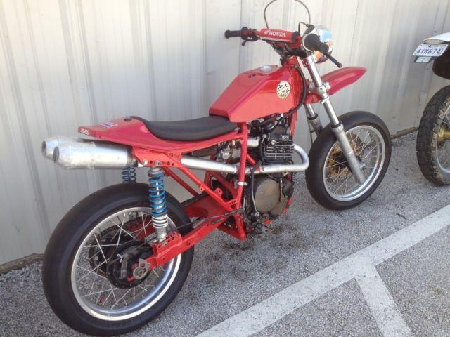 cafe racer motorcycle flat track road race motard Honda xr ahrma vintage used xl