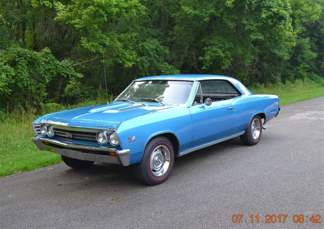 1967 CHEVELLE SS 396 4SPD REAL SS HIGH QUALITY ROTISSERIE FRAME OFF MARINA BLUE
