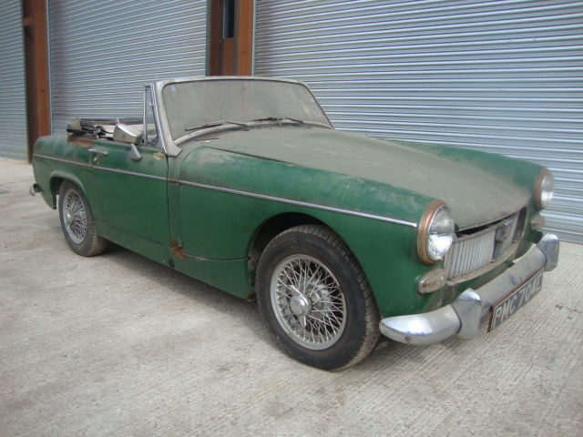 *1967 MG MIDGET BARN FIND CLASSIC CAR*
