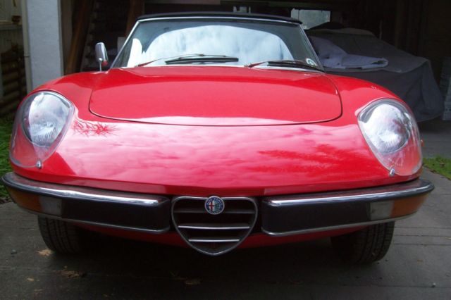Alfa Romeo spider early 1971 first Kamm tail model
