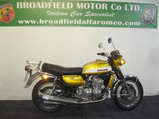 1973 L Suzuki GT750 Kettle manual in candy gold metallic