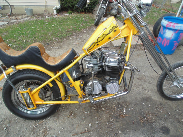 74 Honda CB750 Old School Chopper Amen Savior TRUE SURVIVOR NO RESERVE