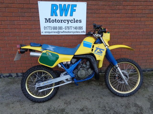 SUZUKI TS 250 X, 1989, 13K, FULLY RESTORED, £99 UK DELIVERY, CARDS & PX