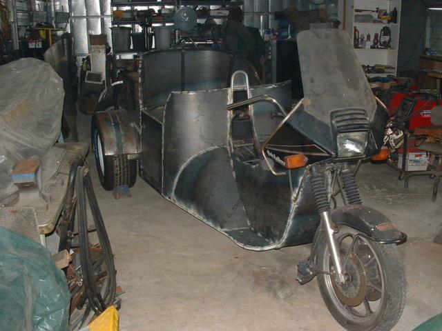 Trike- custom three wheeled motorcycle