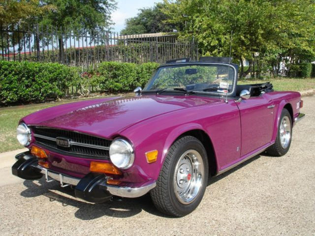 1974 TRIUMPH TR6 STUNNING CONCOURS RESTORATION CAR IS JEWELRY RARE FACTORY COLOR