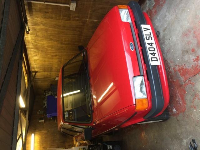 1987 FORD FIESTA POPULAR   RED