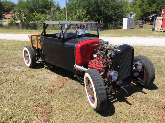 1930 Ford Model A roadster stake body pickup