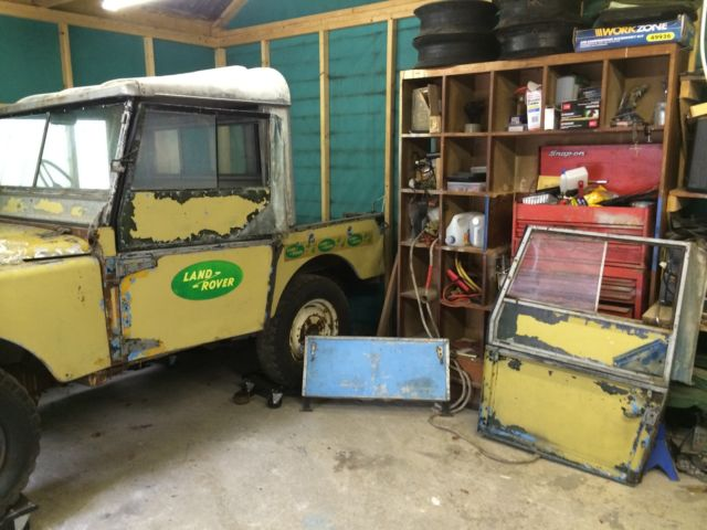 Land Rover Series one 80 inch 1949 project barn find