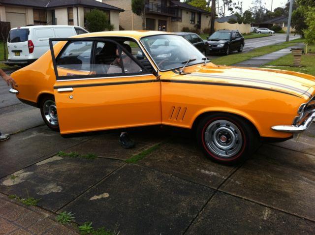 1970 lc holden torana gtr 2d sedan 4 sp indy orange genuine matching